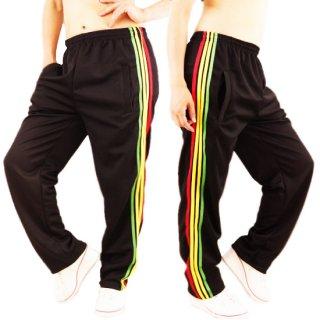 ジャマイカ ラスタラインのロングパンツ レゲエダンス衣装 ブラック or グリーン