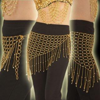 ビーズで出来た美しいネットショール☆フリンジデザイン・アラビアンヒップショール!ダンサー衣装アクセサリー