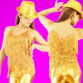 サルサ,ラテンダンス衣装◆フリンジスパンコールキャミ
