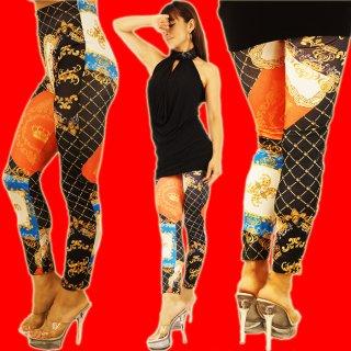 ゴージャスなクラウンデザイン・レギパン☆美脚なレギンス・パンツ♪ダンサー衣装★ボトム★スパッツ★