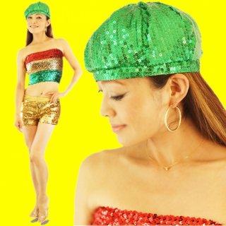 キラキラスパンコールベレー帽 ハット全9色
