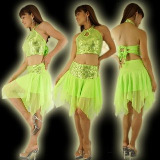 ステージセットアップ衣装スパンコール シフォンスカート