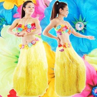 ハワイアンフラダンス衣装/お花セットロング