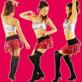 【SALE】スパンコール2段ミニスカート