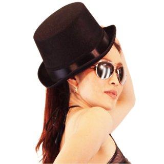 バーレスクなシルクハット風帽子 カラフル全4色