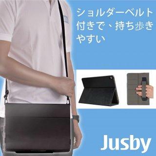 JUSBY ACTIPRO ショルダーベルト ペンシルホルダー ハンドストラップ付 タブレット保護ケース ( iPad Pro 12.9 2015 / 2017 年仕様 対応 )