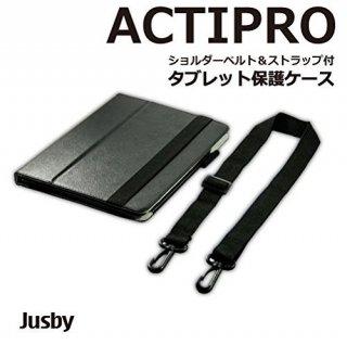 JUSBY ACTIPRO ショルダーベルト ペンホルダー 手帳型 スタンド タイプ( dtab Compact d-01J / Huawei M3 8.4 対応 )