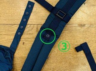 (3)右:肩側凸スナップとれ