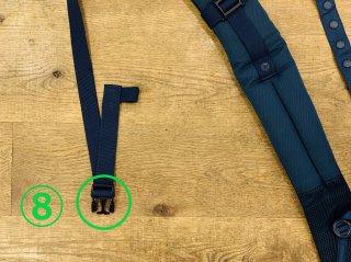 (8)左:サイドリリース凸バックル交換