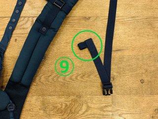 (9)右:サイドリリースベルト収束ゴム交換