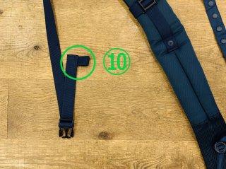 (10)左:サイドリリースベルト収束ゴム交換