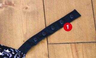 (1)右:フード側凹スナップとれ