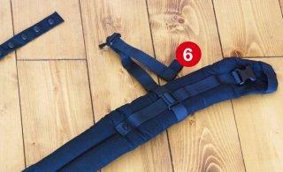 (6)胸ストラップ収束ゴム交換