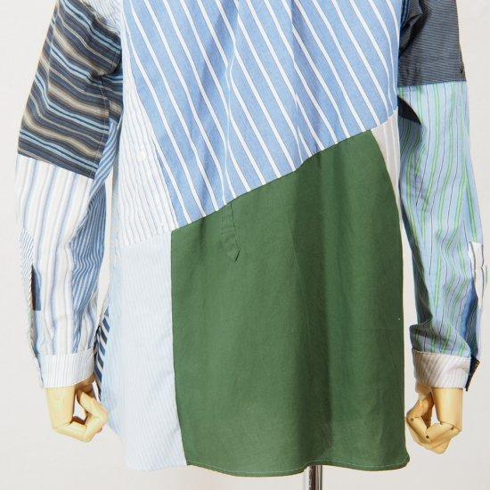 Rebuild by NeedlesBand CollarPatchwork Shirt