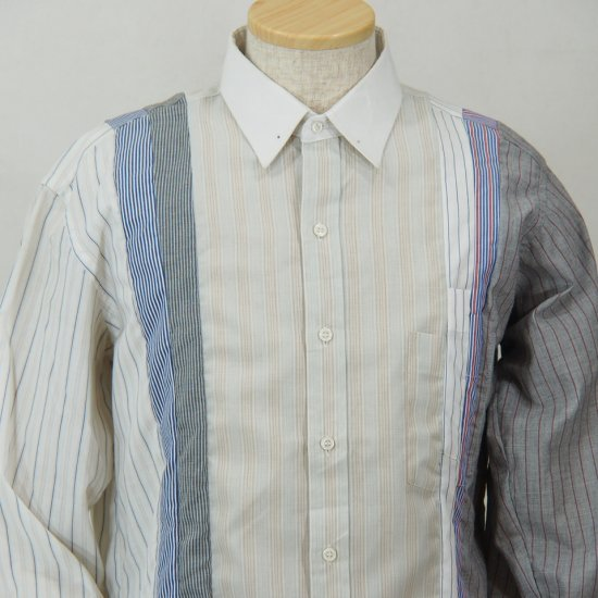 Rebuild by NeedlesPinhole CollarPatchwork Shirt