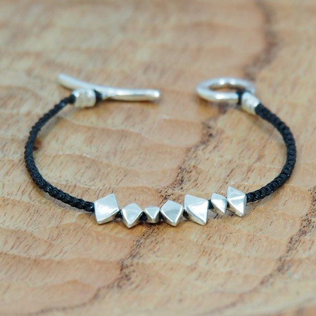 JILL PLATNERsnowflake braceletBlack