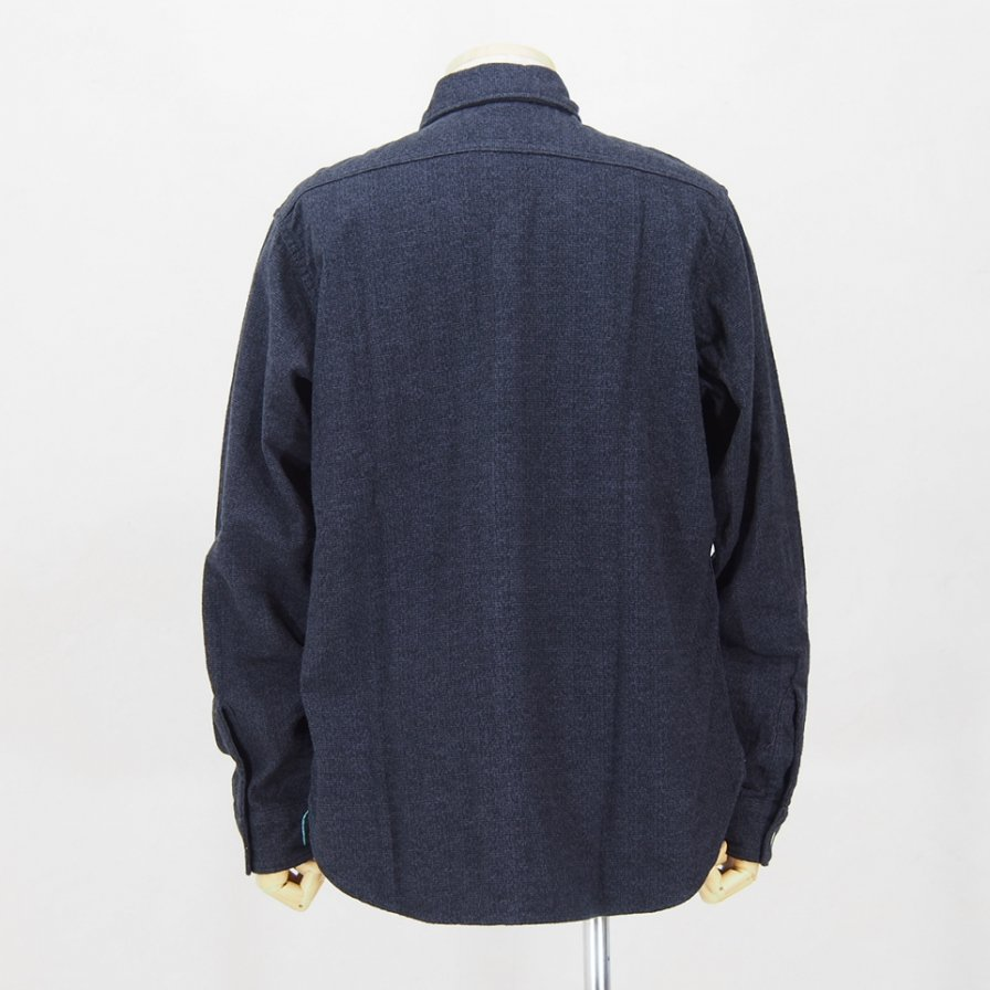 POST OVERALLS USA ポストオーバーオールズ - The POST�-R L/S Shirt - Flannel - Lavender / Black