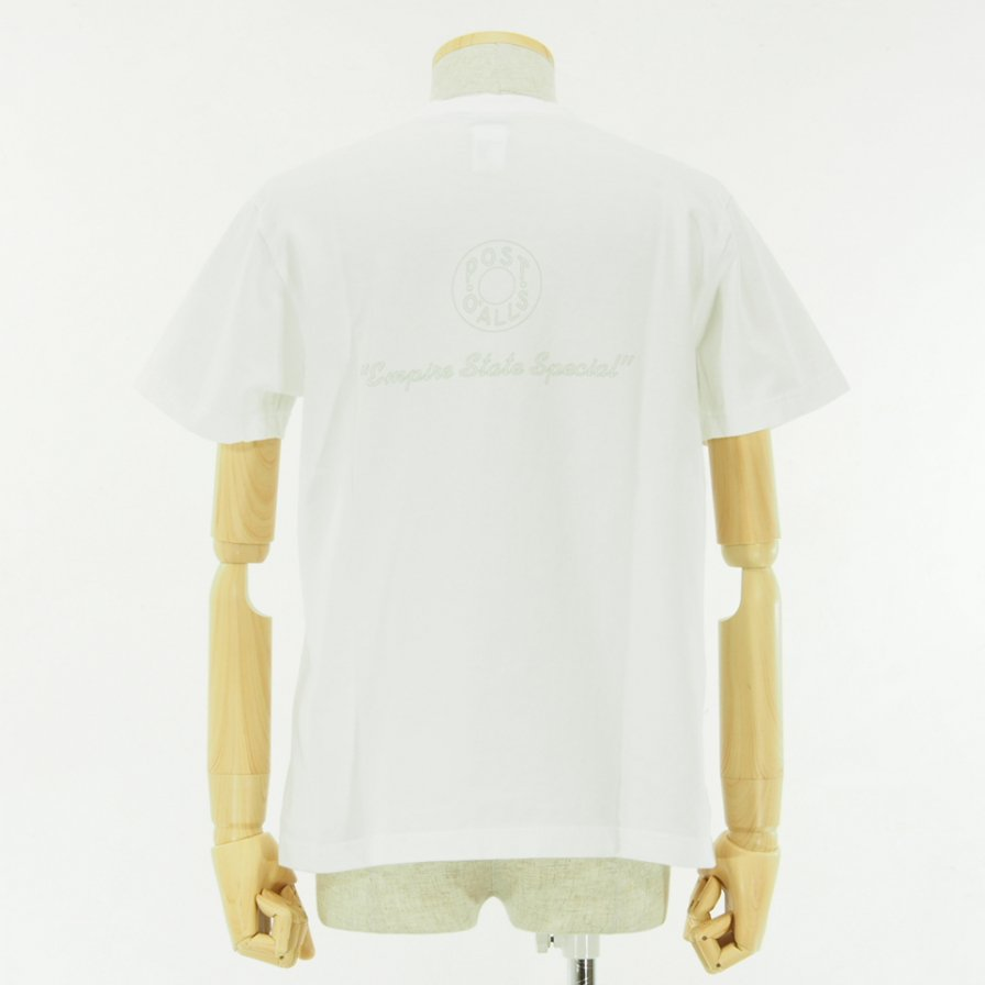 POST OVERALLS - Outline ESS Pocket Tee - White
