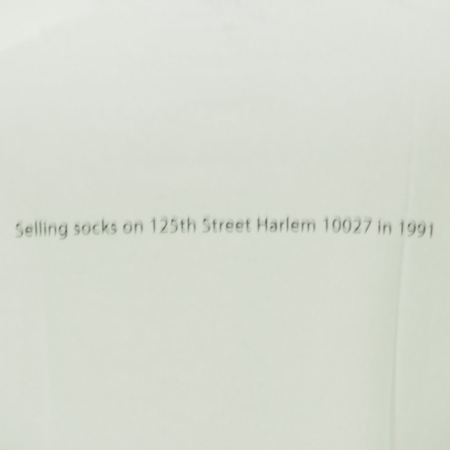FilPhies フィルフィーズ - Selling socks on 125th Street Harlem 10027 in 1991 - White