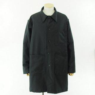 EG WORKADAY イージーワーカデイ - Shop Coat - Reversed Sateen - Black