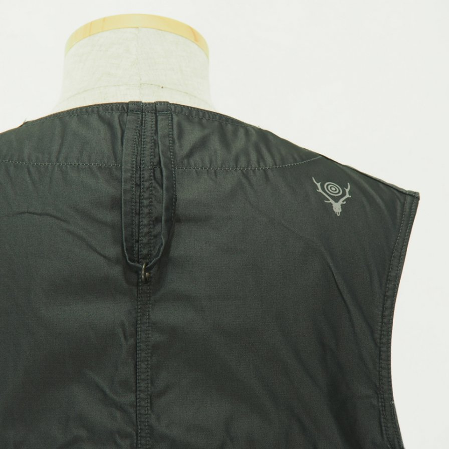 South2 West8 サウスツーウエストエイト - Tenkara Vest - Poly Gabardine - Charcoal