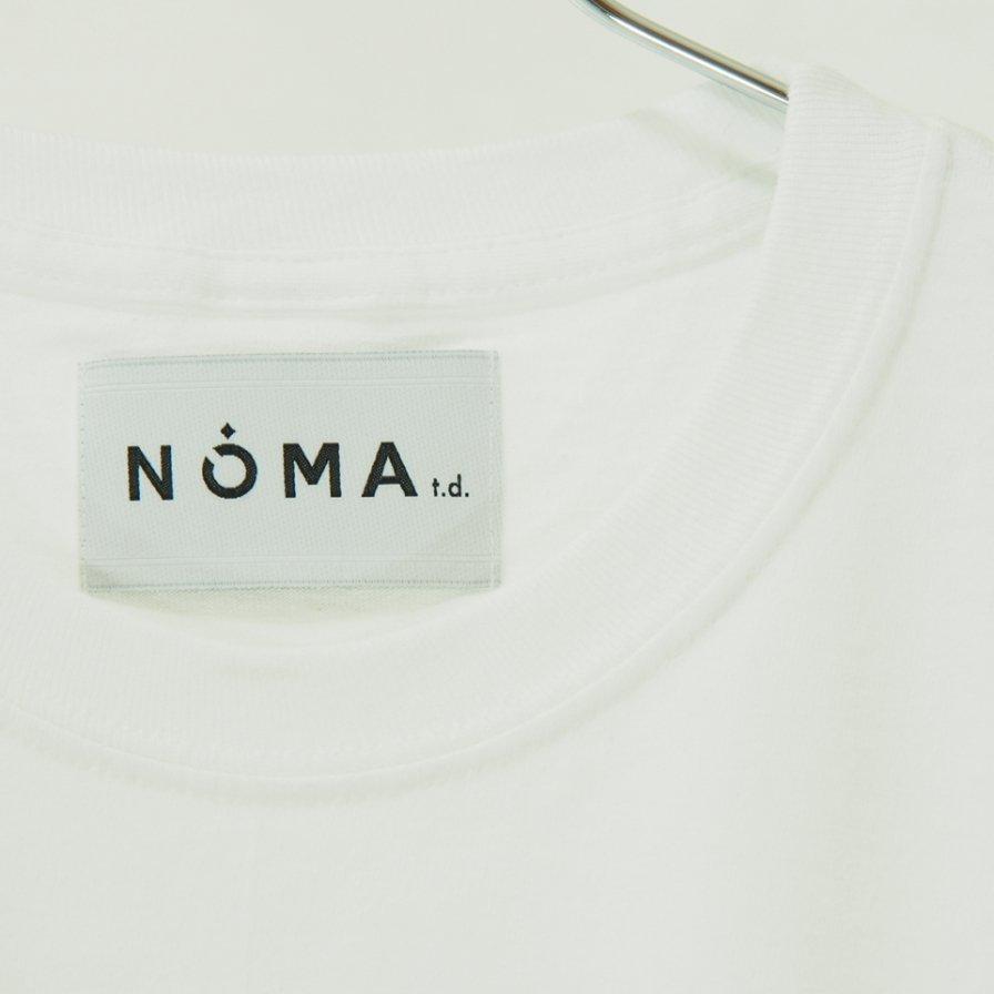 NOMA t.d. ノーマティーディー - Stripe Sleeve L/S Tee - White / Grey N Stripe