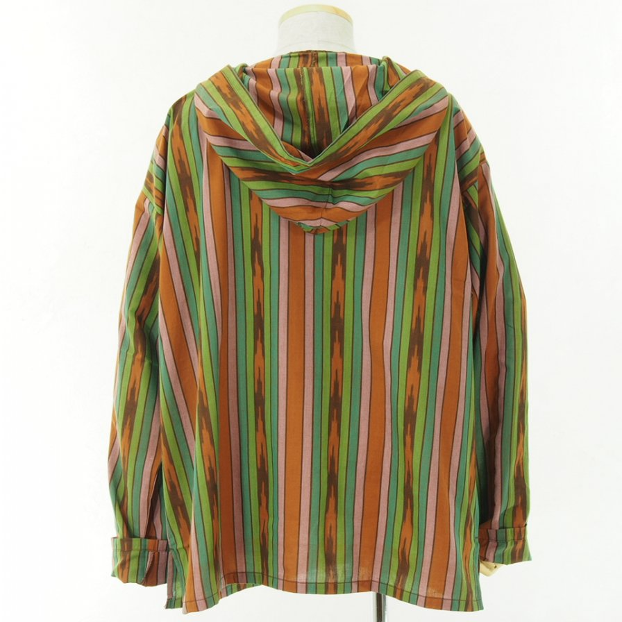 South2 West8 サウスツーウエストエイト - Mexican Parka - Cotton Cloth / Ikat Pattern - Brown/Green/Pink