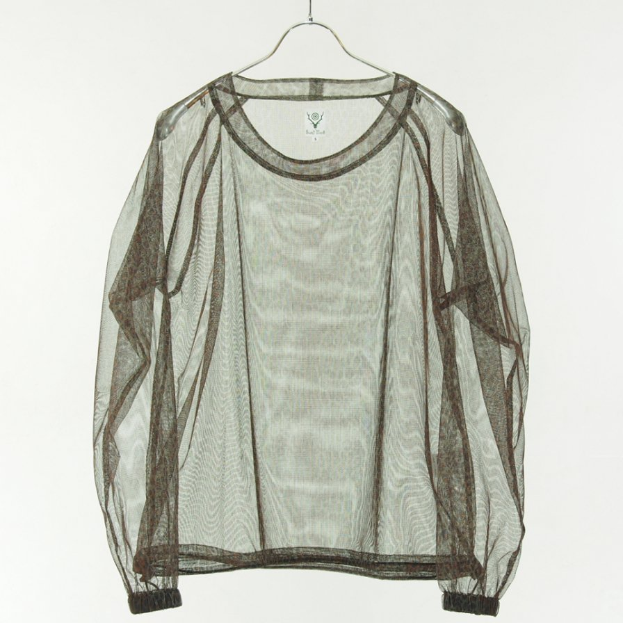 South2 West8 サウスツーウエストエイト - Bush Crew Neck Shirt - Poly Lightweight Mesh - Leopard