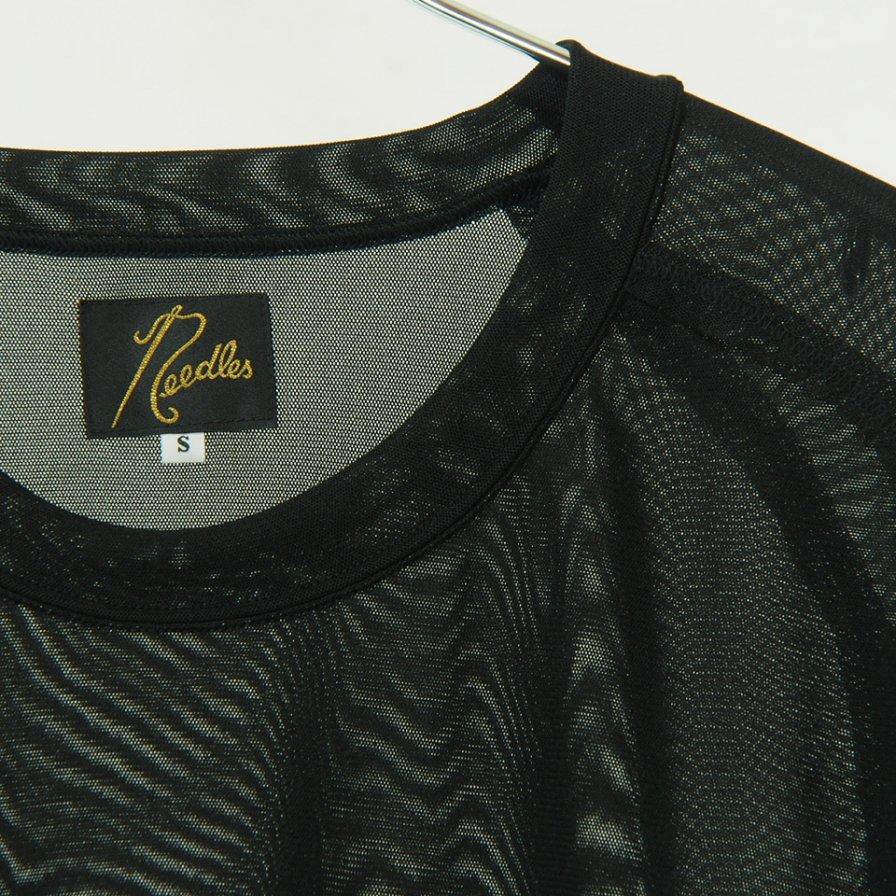 Needles - L/S U Neck Tee - Poly Jersey - Black