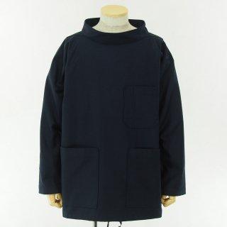 EG WORKADAY イージーワーカデイ - Smock Popover - Cotton Reversed Sateen - Dk.Navy