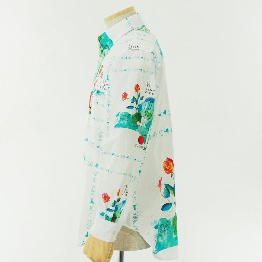 EG WORKADAY イージーワーカデイ - BD Shirt - Cotton Print - NYC