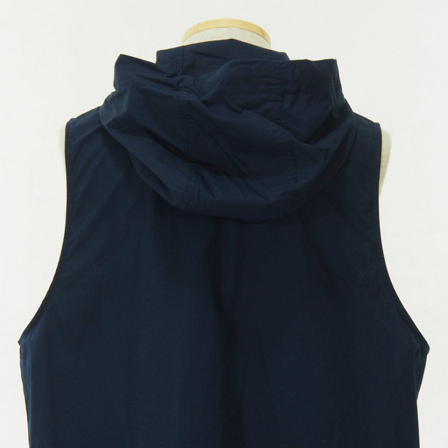 RANDT - Studio Vest - Pima Cotton Poplin - Navy
