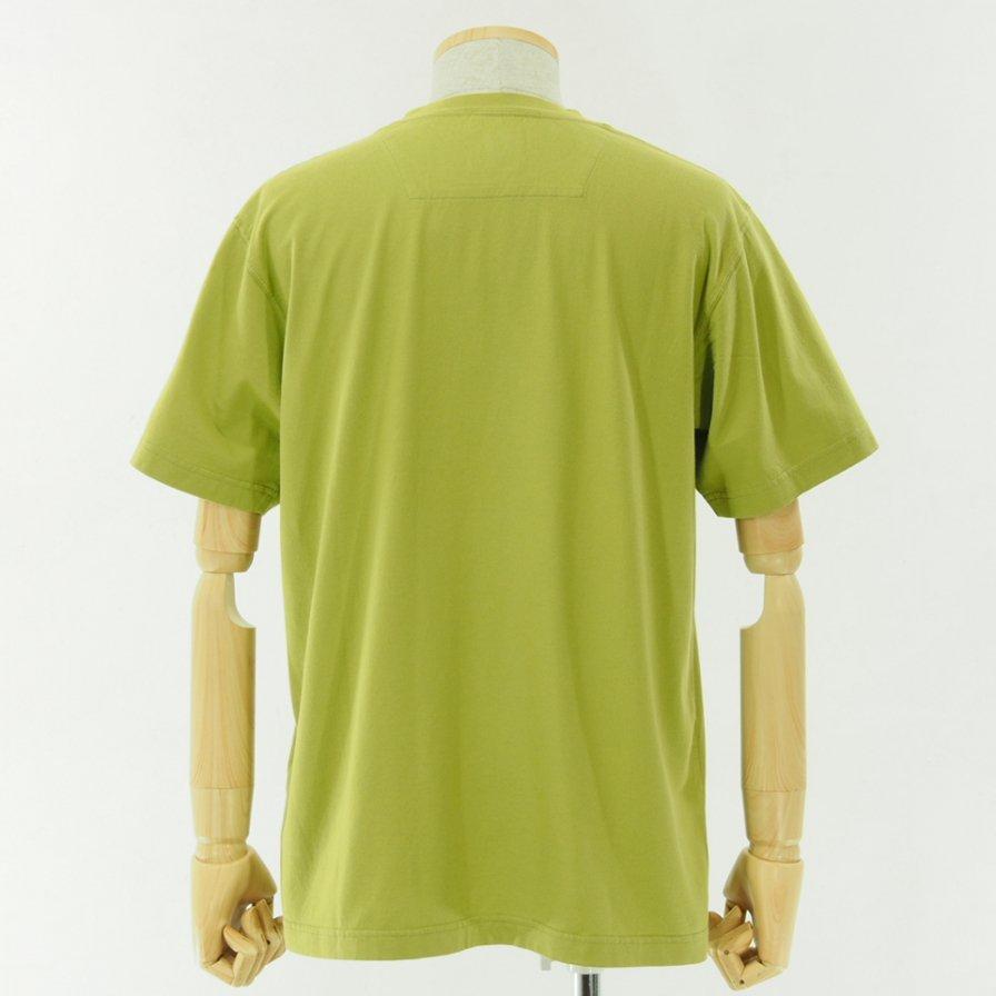 ts(s) ティーエスエス - Line Print Tshirt - Pistachio