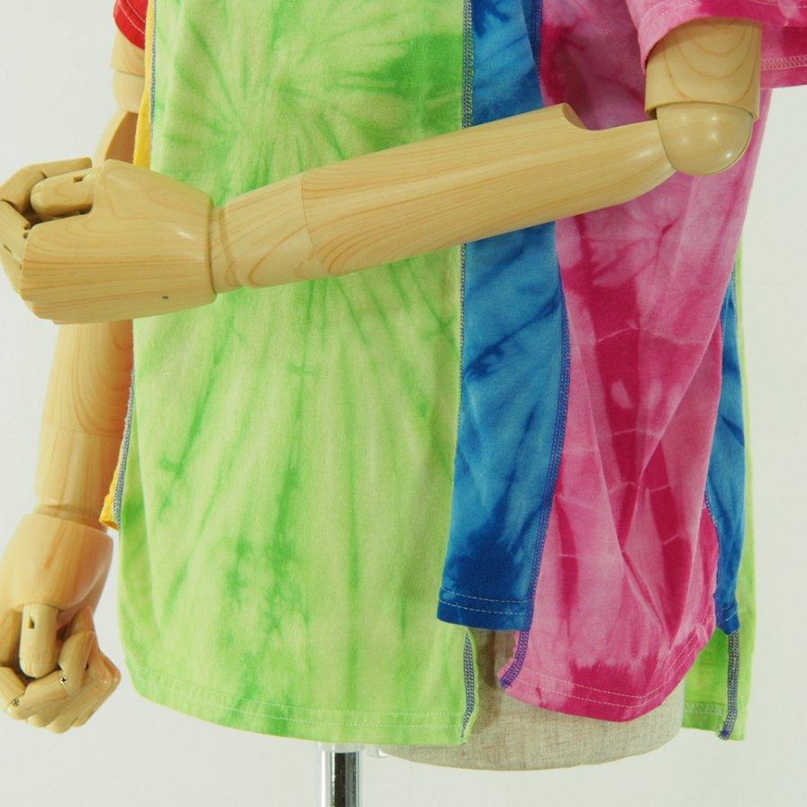 Rebuild by Needles リビルドバイニ−ドルズ - 5 Cuts Tee - Tie Dye - Spider - Green