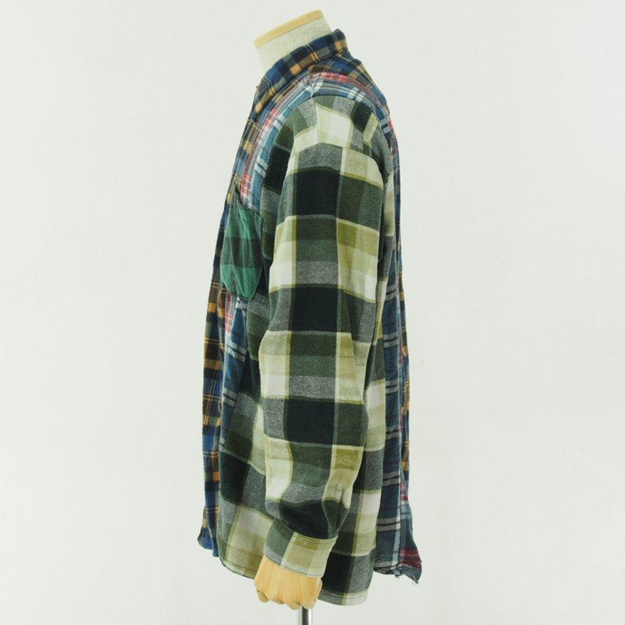 Rebuild by Needles リビルドバイニ−ドルズ - Flannel Shirt → 7 Cut Shirt - M Size
