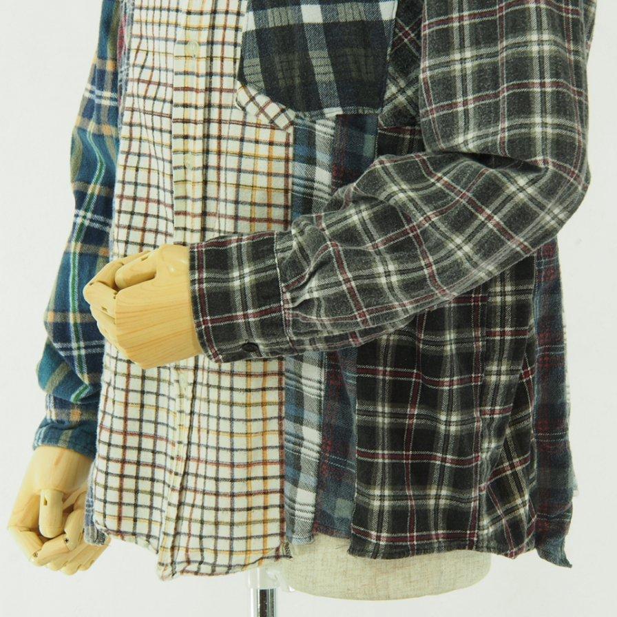 Rebuild by Needles リビルドバイニ−ドルズ - Flannel Shirt → 7 Cut Shirt - L Size