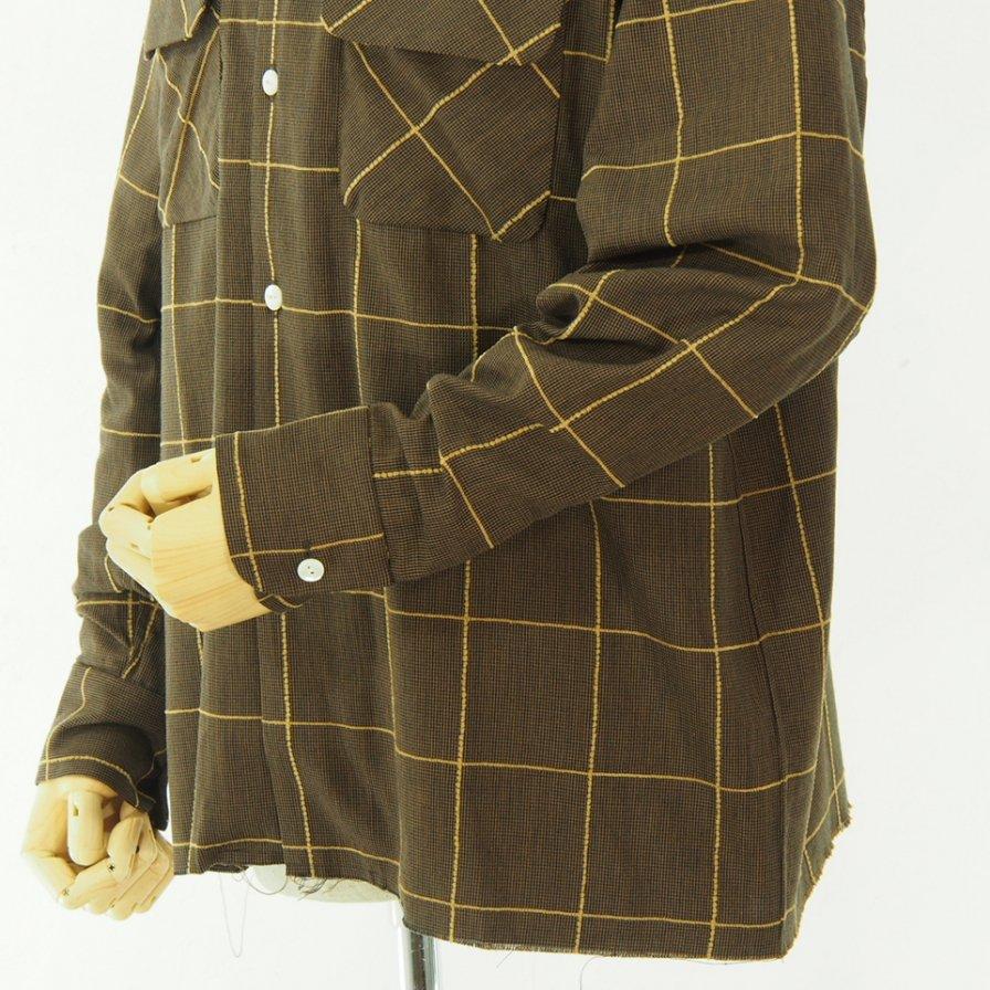 Needles ニードルズ - C.O.B. Classic Shirt - C/Pe/R Plaid Twill - Brown