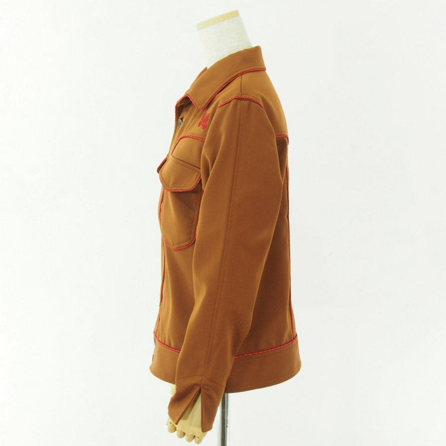Needles Woman ニードルズウォメン- Piping Cowboy Leisure Jacket - Pe/R  Dosekin - Brown