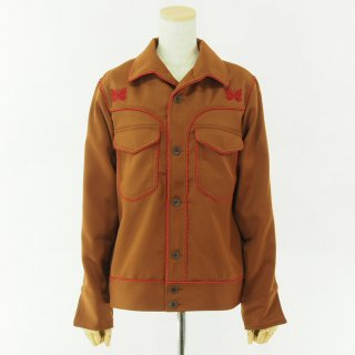 Needles Woman ニードルズウォメン- Piping Cowboy Leisure Jacket - Pe/R  Dosekin - Brown