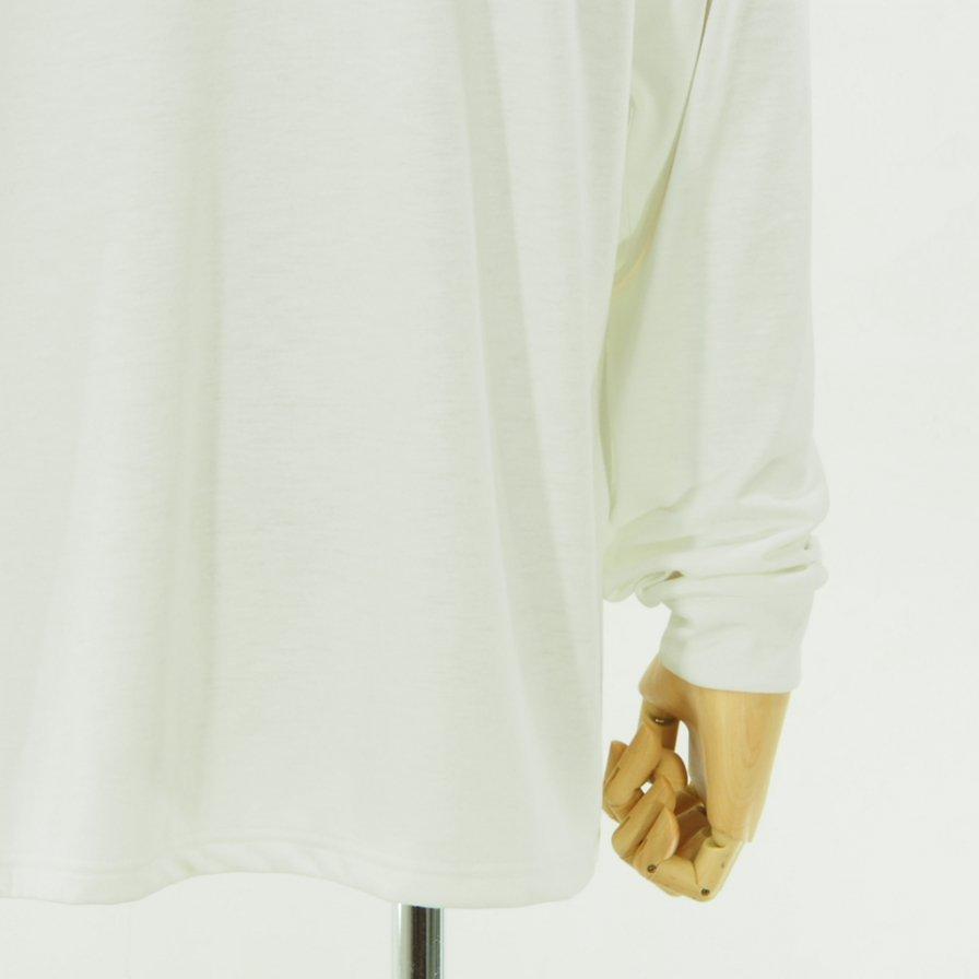 Needles ニードルズ - L/S Mock Neck Tee - Poly Jersey - White
