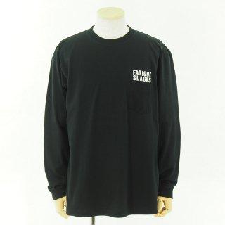 CORONA Fatigue Slacks - コロナ ファテーグスラックス - L/S Pocket Tee w/Back Print - Black