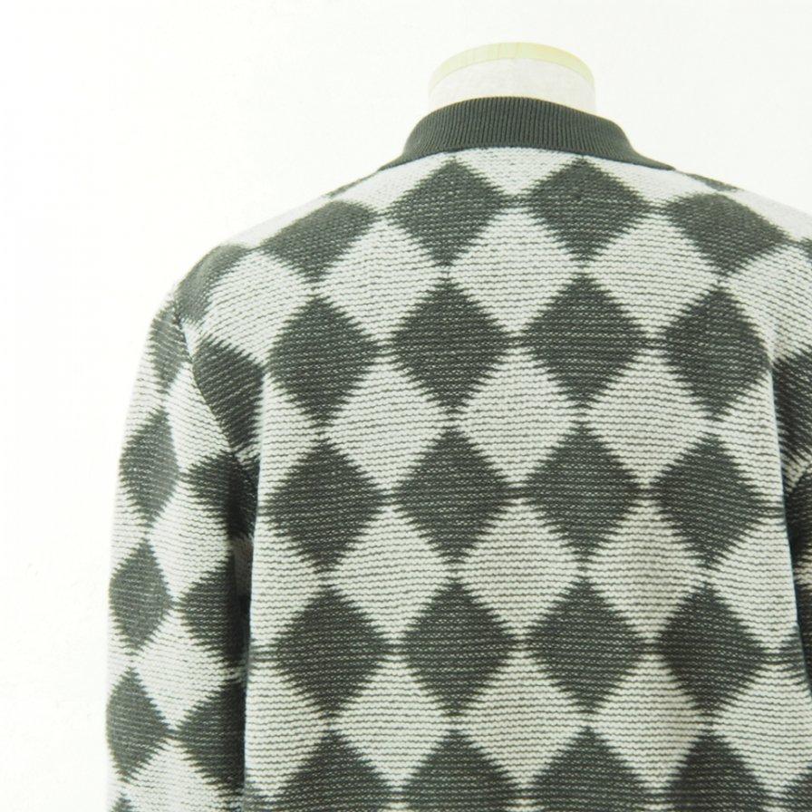 Needles ニードルズ - Polo Sweater - Checkered - Charcoal