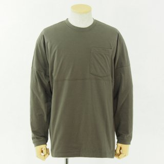 Charcoal チャコール - OC 40 W-Stack Foot L/S Pocket Tee - Taupe