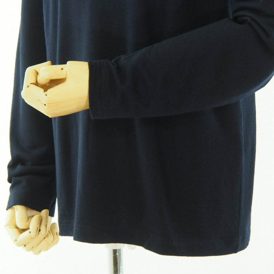 ts(s) ティーエスエス - Crew Neck Shirt - Washable High Gauge Wool Jersey - Navy