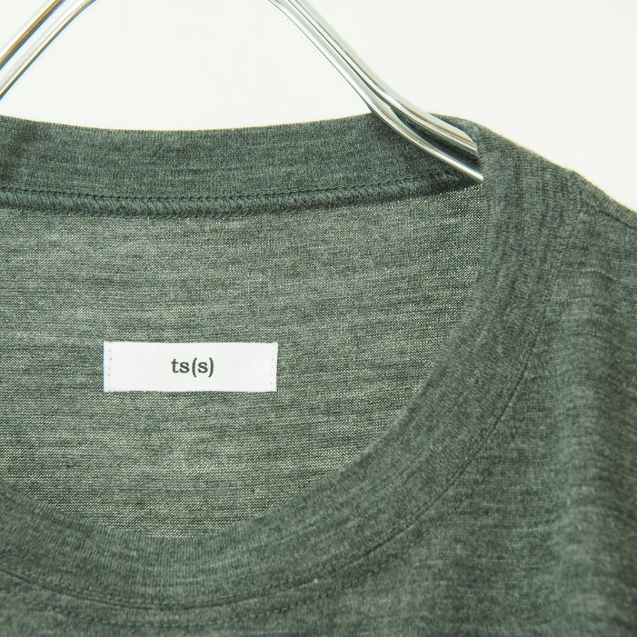 ts(s) ティーエスエス - Crew Neck Shirt - Washable High Gauge Wool Jersey - Gray
