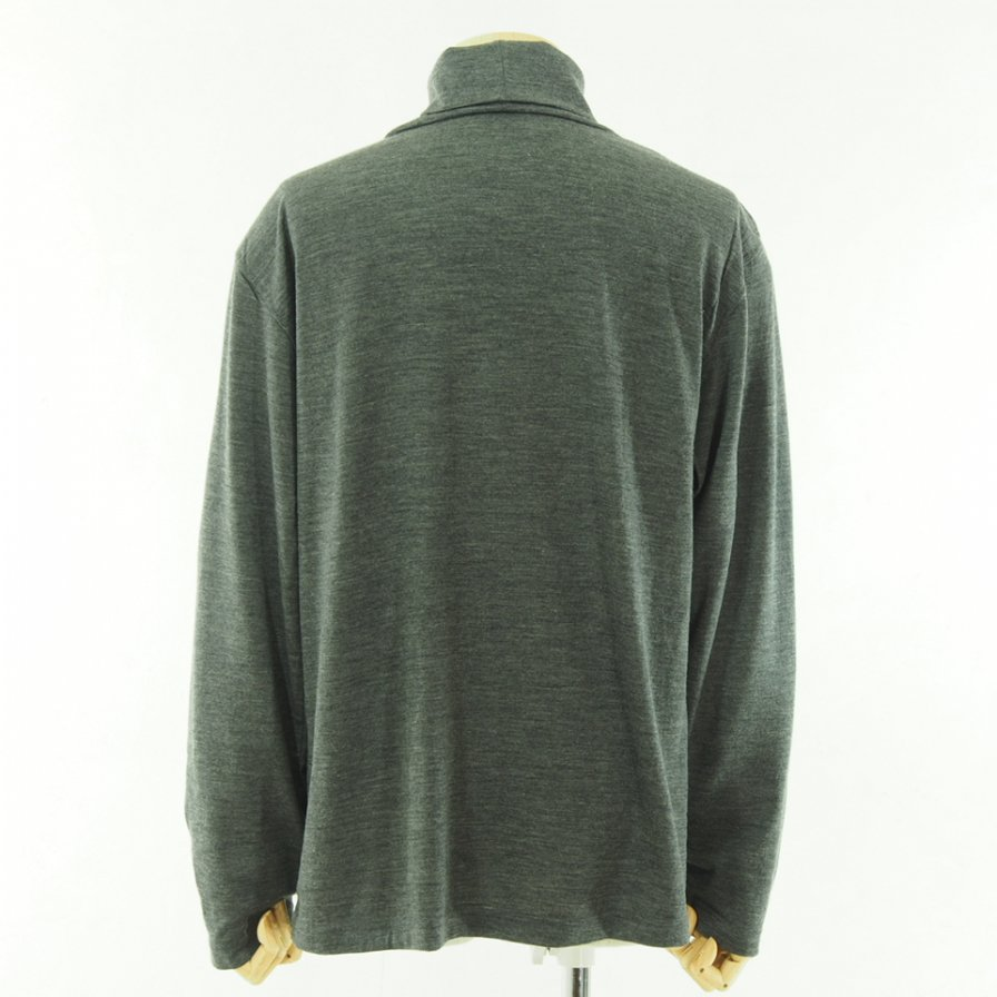 ts(s) ティーエスエス - Turtle Neck Shirt - Washable High Gauge Wool Jersey - Gray