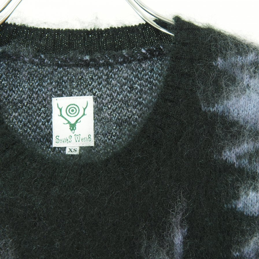 South2 West8 サウスツーウエストエイト - Loose Fit Sweater - S2W8 Native - Black