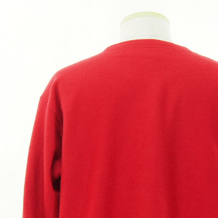 South2 West8 サウスツーウエストエイト - S.S.Crew Neck Shirt - Silver Knit - Red