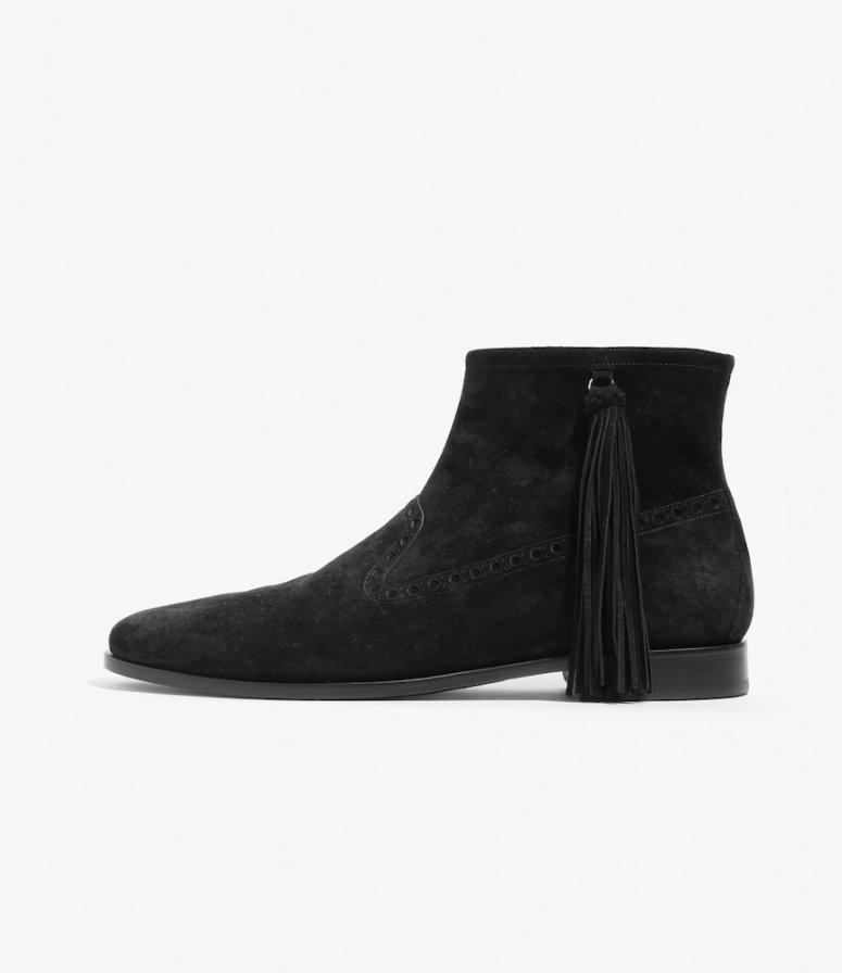 NEPCO FOOTWEAR ネプコフットウェアー - Medallion Boot With Tassel Fringe - Black Suede