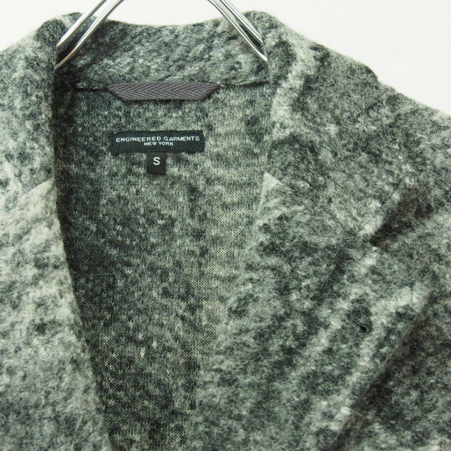 Engineered Garments エンジニアドガーメンツ - Leisure Jacket - Snake Print Knit - Grey
